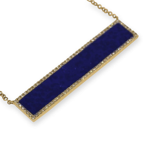 Lapis and Diamond Pendant