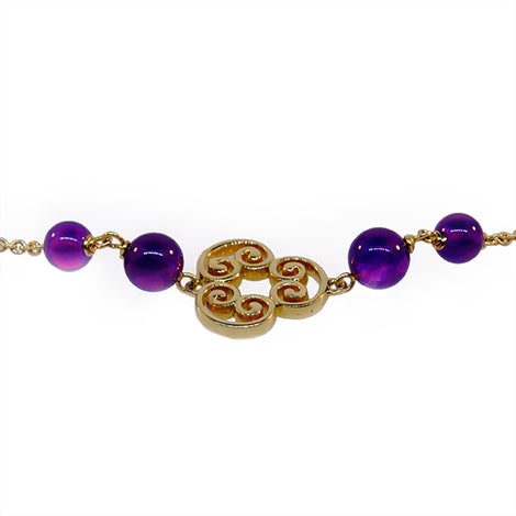Tiffany and Co. Gold & Amethyst Chain