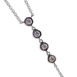 14 K white gold Long Necklace
