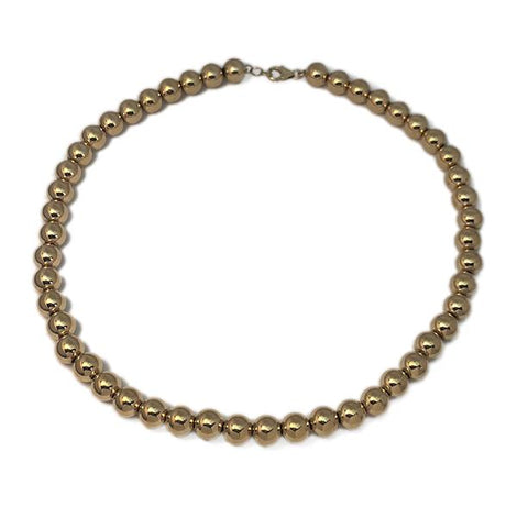 Yellow Gold Bead Necklace