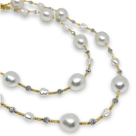 Lariat Natural South Sea Pearl Necklace