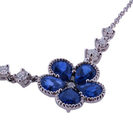 Sapphire Flower Necklace