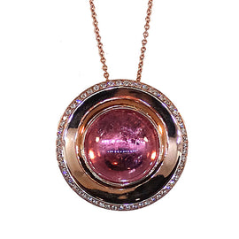 OVII 14 KRG Pink Tourmaline with diamonds