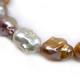 Multicolor Baroque Pearl Strand Necklace