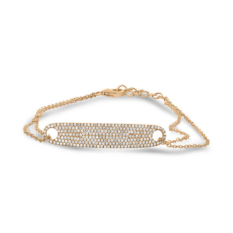 White Diamond Tag Bracelet