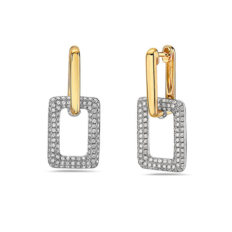 Bassali Two Tone Earrings