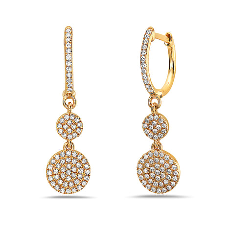 Bassali Drop Yellow Gold Earrings