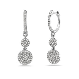 Bassali Drop White Gold Earrings