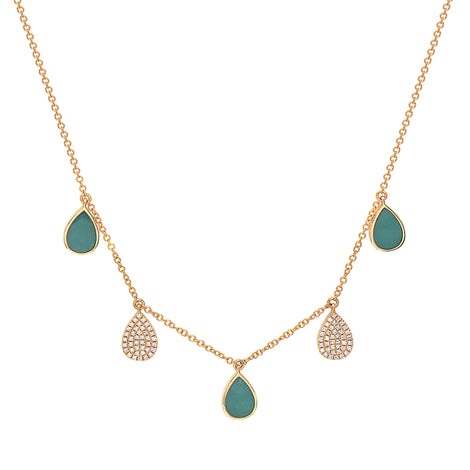 Bassali Gold and Turquoise Necklace