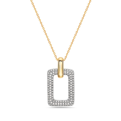 Bassali Two Tone Pendant and Chain