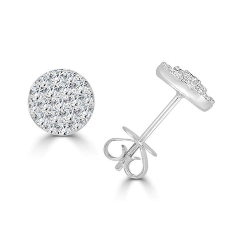 Button Diamonds Studs