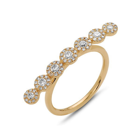 Bassali Modern Yellow Gold Line Ring