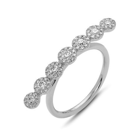 Bassali Modern White Gold Line Ring