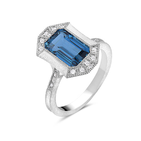 Bassali Blue Topaz Ring