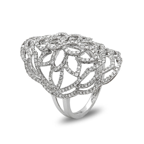 Bassali White Gold and Diamond Ring