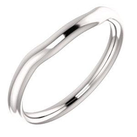Platinum Band for 8x6 mm Oval Ring