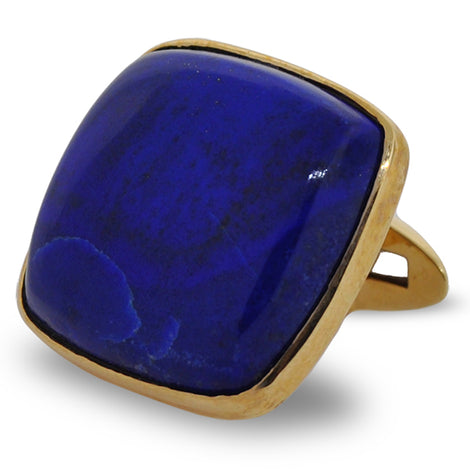 Lapis and Gold Cuff Links