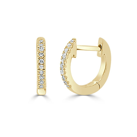 Yellow Gold Diamond Huggy Earrings
