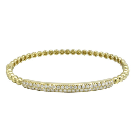Gold & Diamond Beaded Bangle