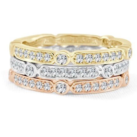 Gold & Diamond Stackable Ring