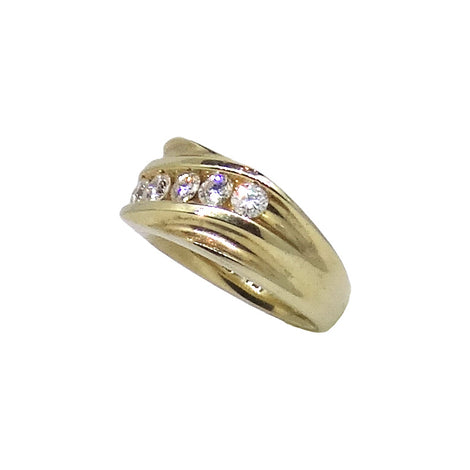 Men 14kt yellow gold .95ctw round diamond band