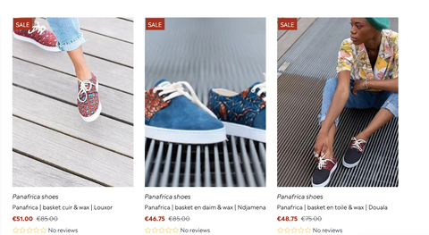 panafrica soldes chaussure wax