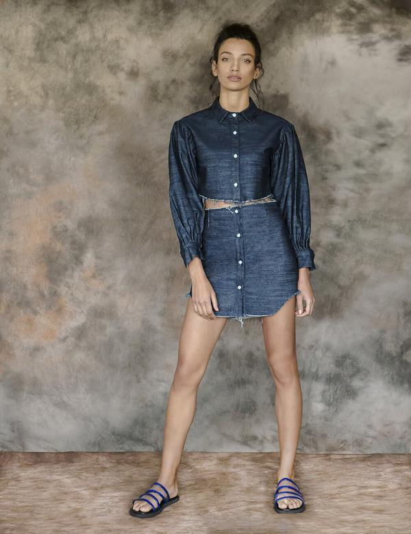 Awalé | Chemise en denim | Kotru shirt Top Awalé
