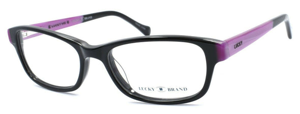 LUCKY BRAND Favorite Eyeglasses Frames SMALL 49-16-130 Black + CASE