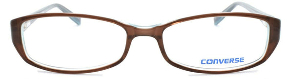 CONVERSE Black Top Women's Eyeglasses Frames 52-15-135 Brown + CASE
