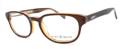 LUCKY BRAND Dynamo Kids Unisex Eyeglasses Frames 45-16-130 Brown + CASE