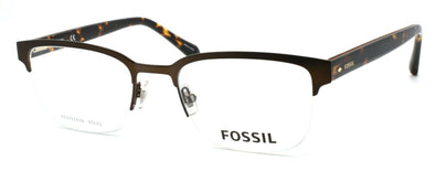 Fossil FOS 7005 09Q Men's Eyeglasses Frames Half-rim 52-20-150 Brown + CASE