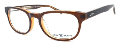 LUCKY BRAND Ingenious Kids Unisex Eyeglasses Frames 45-16-130 Brown + CASE
