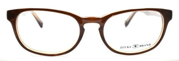 LUCKY BRAND Dynamo Unisex Eyeglasses Frames SMALL 48-16-135 Brown + CASE