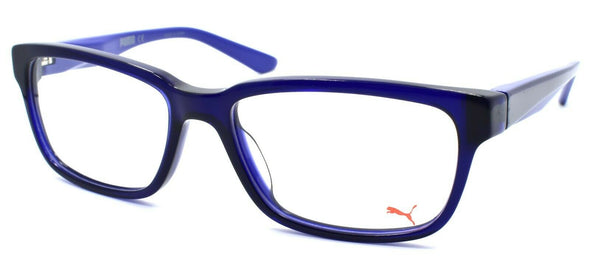 PUMA PU0068O 010 Men's Eyeglasses Frames 54-17-140 Blue