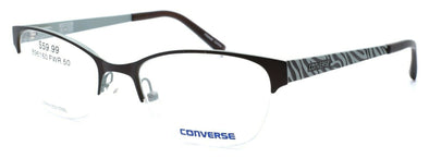 CONVERSE A059 Women's Eyeglasses Frames Half-rim 50-18-135 Brown + CASE