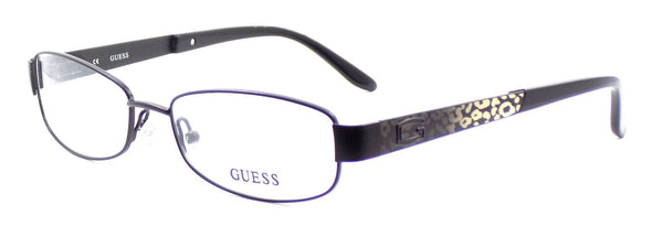 GUESS GU2392 BLKSI Women's Eyeglasses Frames 53-17-135 Black & Silver + CASE
