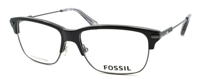 Fossil FOS 6056 OIP Men's Eyeglasses Frames 53-15-145 Ruthenium / Black + CASE