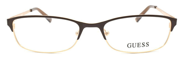GUESS GU2544 045 Women's Eyeglasses Frames 52-17-135 Shiny Light Brown + CASE