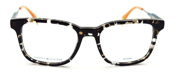 TOMMY HILFIGER TH 1351 JX2 Men's Eyeglasses Frames 50-18-145 Black Beige Havana