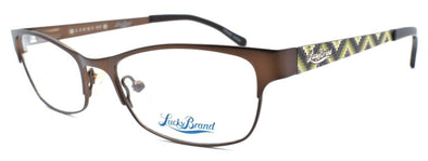 LUCKY BRAND Wiggle Kids Girls Eyeglasses Frames 49-17-130 Brown + CASE
