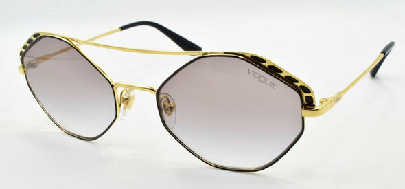 Vogue VO4134S 280/8E Women's Sunglasses Hexagonal Black & Gold / Grey Gradient