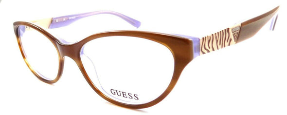 GUESS GU2351 AMB Women's Eyeglasses Frames 53-16-135 Amber Brown Lavender + CASE