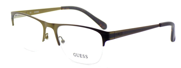 GUESS GU1814 BRN Men's Half-Rim Eyeglasses Frames 54-18-140 Brown Bronze + CASE