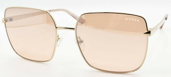 GUESS GU7615 28U Women's Sunglasses 56-17-140 Rose Gold / Mirror Bordeaux