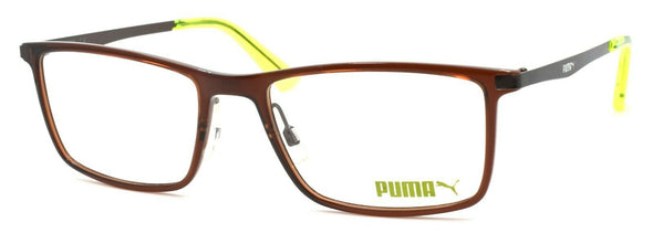 PUMA PU0079O 005 Men's Eyeglasses Frames 53-18-140 Brown
