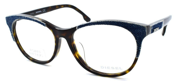 Diesel DL5155-F 052 Women's Glasses Frames Asian Fit 56-16-145 Dark Havana Denim