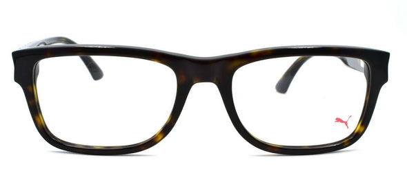 PUMA PU0047O 003 Men's Eyeglasses Frames 53-19-145 Brown Havana
