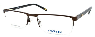 Fossil Michael 05BZ Men's Eyeglasses Frames Half-rim 54-18-140 Matte Brown