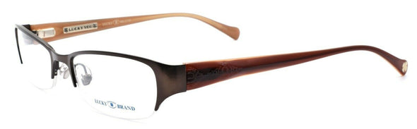 LUCKY BRAND Casey Women's Eyeglasses Frames Half-rim 52-18-135 Brown + CASE
