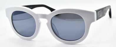 McQ Alexander McQueen MQ0047S 003 Unisex Sunglasses White & Black Mirrored